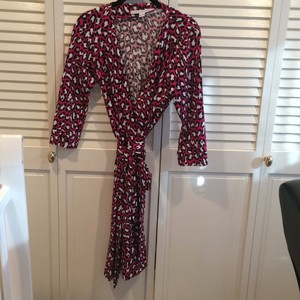 Diane von Furstenberg short dress Black, pink, white on Tradesy