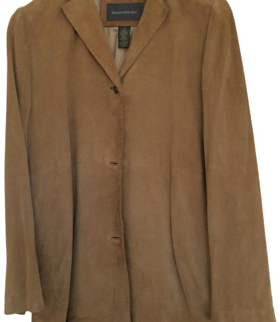 Banana Republic Tan Suede Coat Size 10 (M) Banana Republic Tan Suede Coat Size 10 (M) Image 1