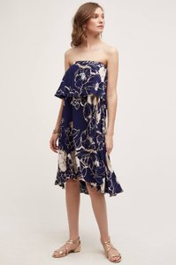 Anthropologie short dress Navy Cream on Tradesy