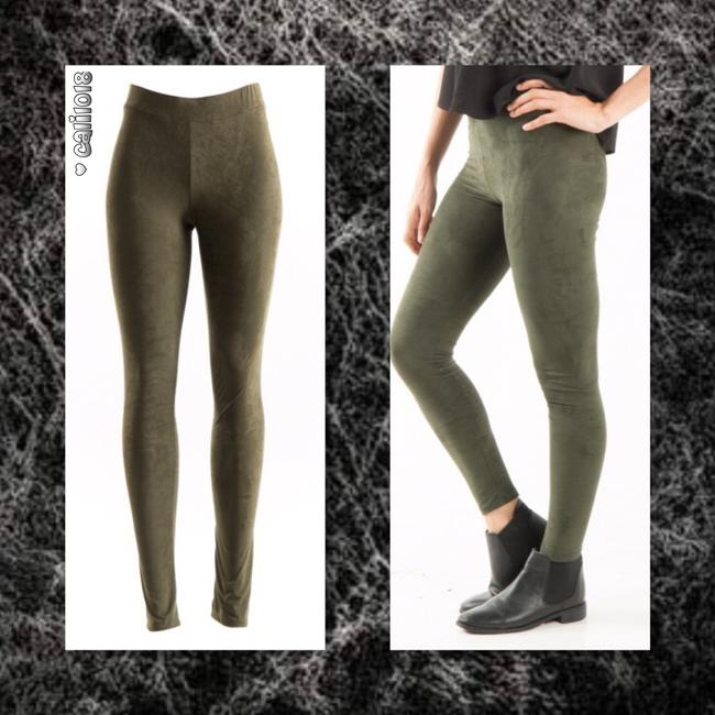 Other Suede Leather Ankle Length Full Length Liquid Black Leggings