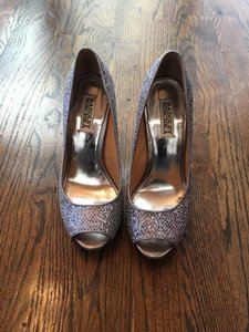 Badgley Mischka Wedding Sparkly Silver Wedding Shoes