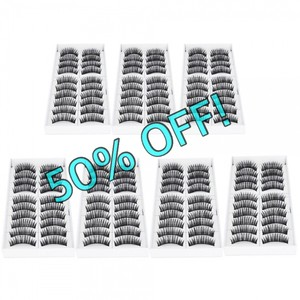 50% OFF SALE! 70 Pairs of High Quality Synthetic False Eyelashes F007
