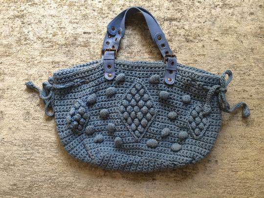 GERARD DAREL 24 Heures Casual Crochet Leather Dryclean Only Hobo Bag