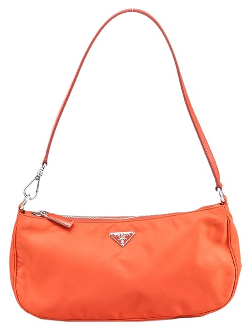 Item - Pochette (32279) Orange Nylon Baguette