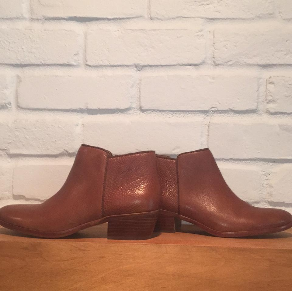 c85559ef0 Sam Edelman Deep Saddle Leather Petty Chelsea Boots Booties Size US ...