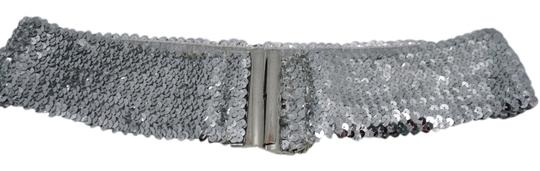 other silver sequin belt
