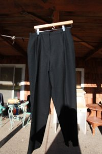 Lands' End Wool Wool Wool Relaxed Pants black