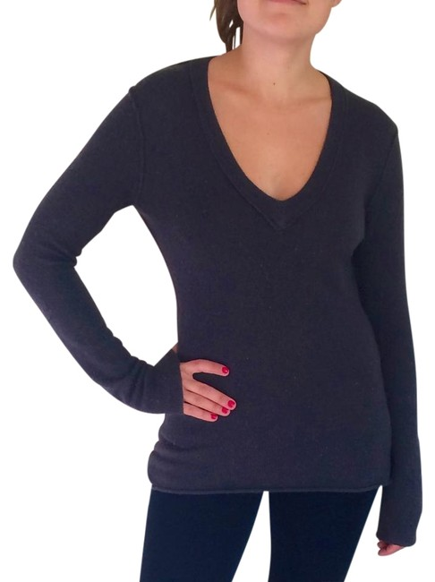 Preload https://item3.tradesy.com/images/inhabit-charcoal-cashmere-stretch-v-neck-sweaterpullover-size-8-m-19999227-0-4.jpg?width=400&height=650