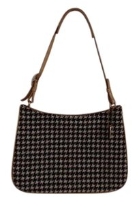 Coach Classic Style Houndstooth Black & White Vintage Shoulder Bag