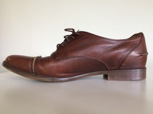Madewell Oxford Leather Casual Brown Flats