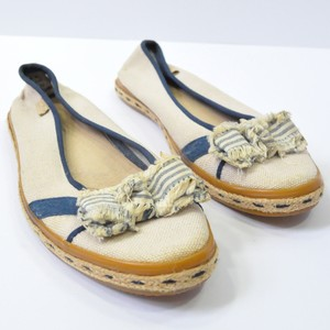 Sperry Top Sider Canvas Bow Boat Canvas Beige Flats
