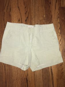 Britt Ryan Bermuda Shorts Light green and white stripe