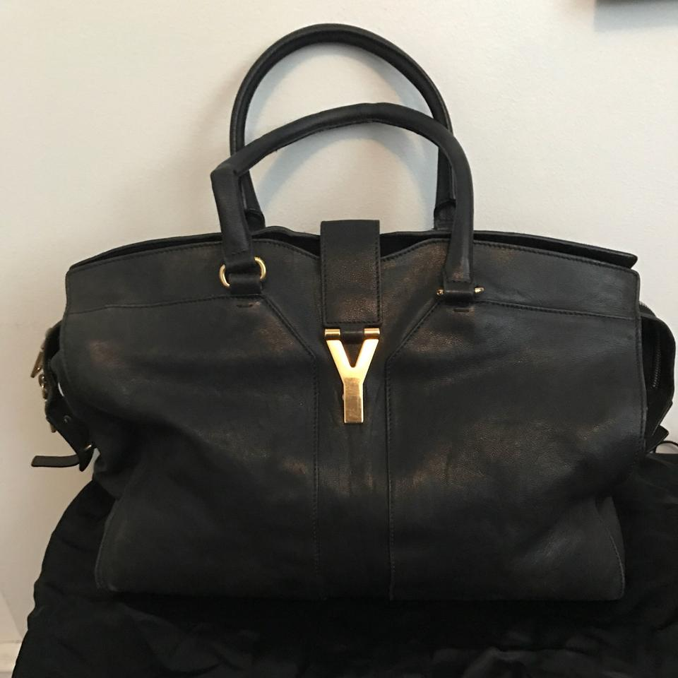 23474287a658 Saint Laurent Cabas Chyc Y Ligne Ysl Tote Satchel in Black Image 11.  123456789101112