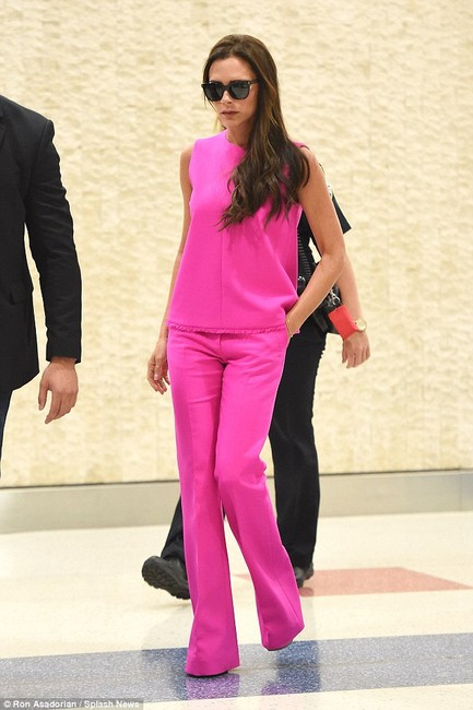Victoria Beckham for Target Twill New Top Fuchsia