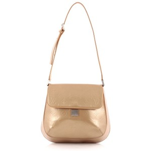 Louis Vuitton Vernis Satchel in Gold