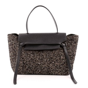 Céline Celine Tweed Satchel in Brown