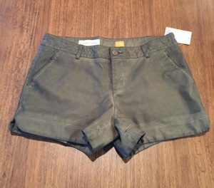 Anthropologie Faux Leather Quilted Mini/Short Shorts Brown
