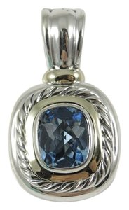 David Yurman David Yurman Sterling Silver 14K Gold Blue Topaz Albion Enhancer