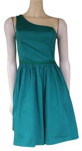 Belle by Oasis short dress Green One Shoulder Cotton Blend on Tradesy