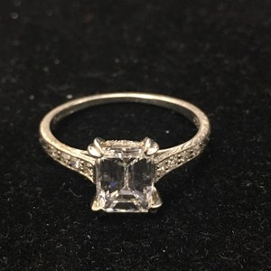 Tiffany & Co. Tiffany & Co 1.10 Carat Dif Emerald Cut Diamond Engagement Ring In Platinum