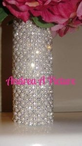 Ivory and Crystal Pearl Rhinestone Bouquet Holder Reception Decoration