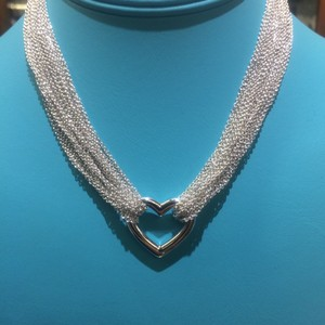 Tiffany & Co. Gorgeous! Like New! Tiffany & Co. Sterling Silver Heart Mesh Toggle Necklace 15 1/2