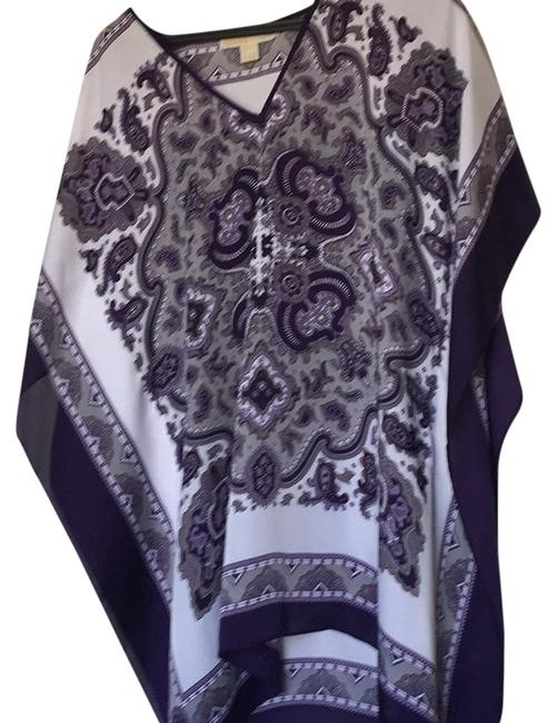 Preload https://item1.tradesy.com/images/michael-michael-kors-purplewhite-tunic-size-10-m-20000140-0-1.jpg?width=400&height=650