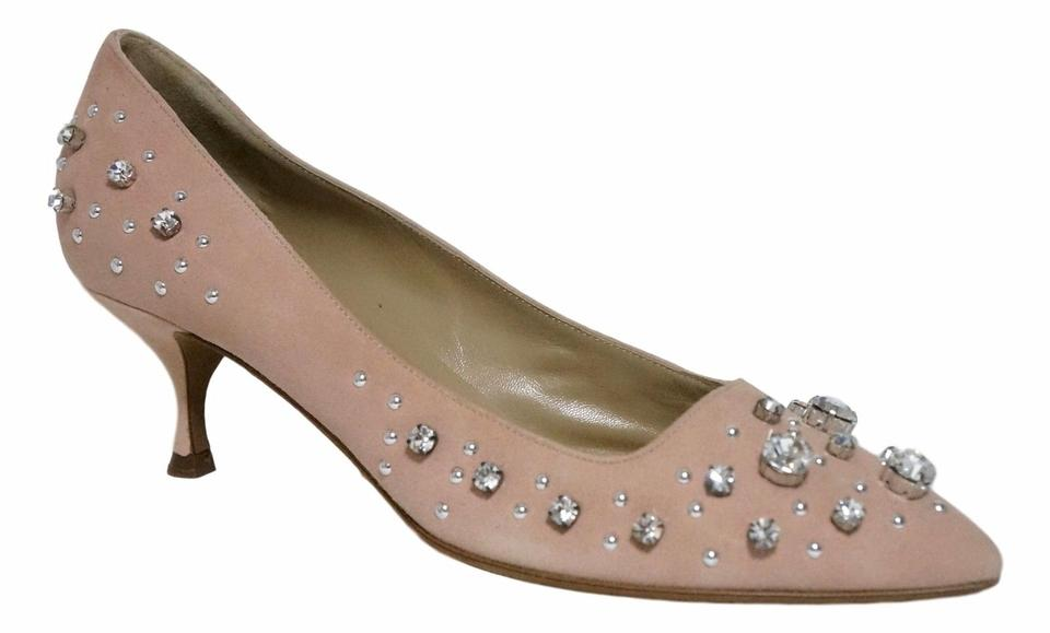 Moschino Embellished Blush Pink Cheap&chic Crystal Embellished Moschino 38 Pumps a78707