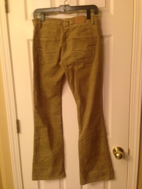 American Eagle Outfitters Boot Cut Pants Tan Corduroy