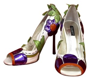 Dolce&Gabbana Floral Purple Green Orange white Pumps