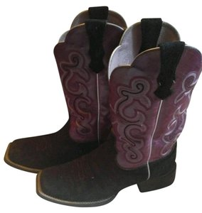 Ariat Cowboy Western Purple and black Boots