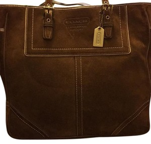 Coach brown suede tote Tote in Brown