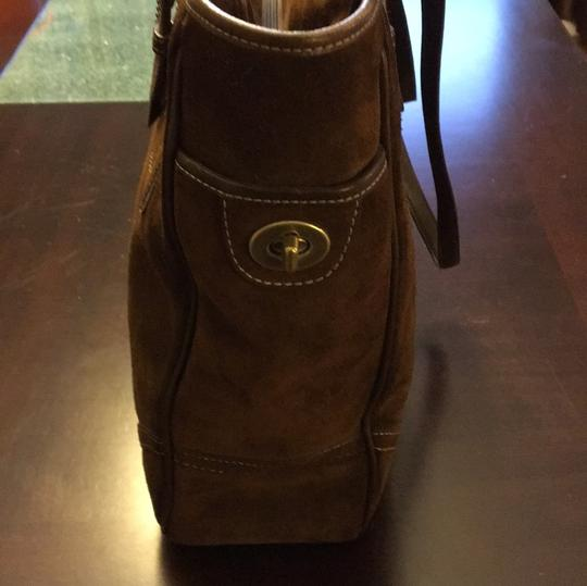 Coach Suede Tote Tote in Brown