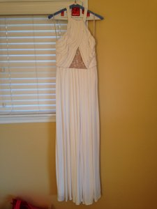 Mikael Aghal Embroidered Panel Maxi Gown Wedding Dress