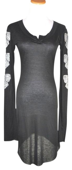 Preload https://item1.tradesy.com/images/thomas-wylde-black-embellished-long-sleeve-shirt-dress-tunic-size-8-m-20000415-0-1.jpg?width=400&height=650