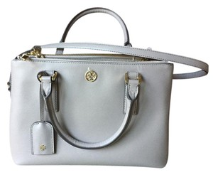 Tory Burch Robinson Crossbody Tote in Grey / Dust Storm