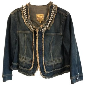 Vera Wang Denim washed Womens Jean Jacket