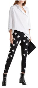 Gareth Pugh Black White Star Skinny Embroidered Pants