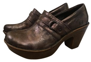 Brn Leather Versatile Brown Metallic Platforms
