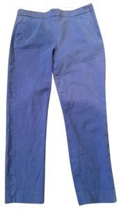 J.Crew Capri Stretch Blue Skinny Pants Cobalt Blue