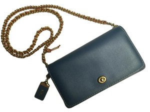 ba446cd80962 Added to Shopping Bag. Coach Dinky Leather Cross Body Bag. Coach Dinky Navy  Blue ...