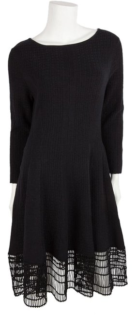 Preload https://img-static.tradesy.com/item/20000624/lela-rose-black-knit-long-sleeve-a-line-lace-hem-mid-length-workoffice-dress-size-10-m-0-1-650-650.jpg