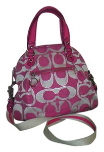 Coach Multi Color Multi-color Tote in pink and beige