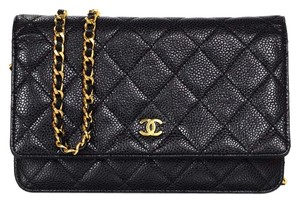 Chanel Quilted Front Flap Cross Body Bag