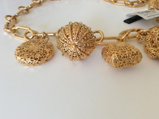 Chanel SUPER RARE VINTAGE CHANEL 22k GP FILIGREE CHARM BELT / NECKLACE