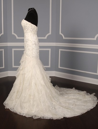 Anne Barge Pearl (Light Ivory) Beaded Chantilly Lace and Silk Organza Belle De Jour Formal Wedding Dress Size 4 (S)