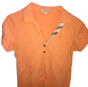 Burberry Brit Poloshirt Pique Button Down Shirt orange