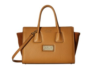 Valentino Leather Suede Tan Caramel Lux Shoulder Bag