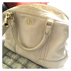 Tory Burch Robinson Satchel in ivory
