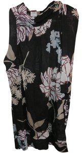 Sweet Pea by Stacy Frati Sleeveless Floral Neck-tie Top Grey/Floral